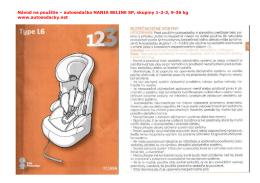 Návod na použitie – autosedačka NANIA BELINE SP, skupiny 1-2