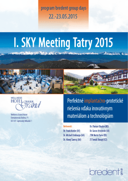 I. SKY Meeting Tatry 2015