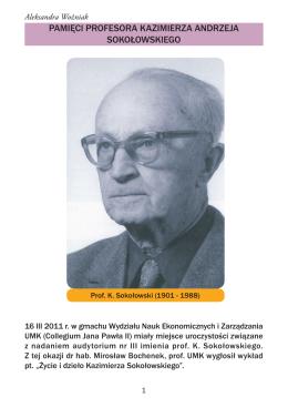 pamięci profesora kazimierza andrzeja sokołowskiego