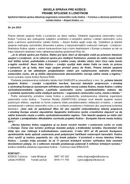 Skvelá správa pre Košice