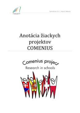 Anotácia žiackych projektov COMENIUS