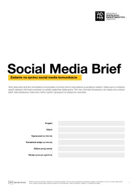 Social Media Brief