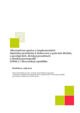 Alternatívna správa o implementácii Opčného protokolu k