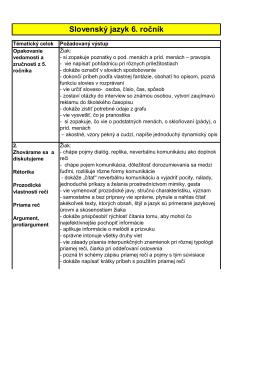 Slovenský jazyk 6. ročník