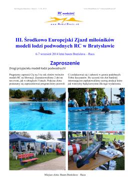 Zaproszenie - Model Boats