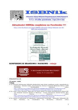 ISBNik 2013.07.01 - Biblioteka Wyższej Szkoły Biznesu