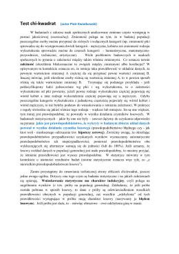 Test chi-kwadrat (autor Piotr Kwiatkowski) W badaniach z zakresu
