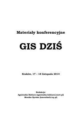 GIS DZIŚ - Uniwersytet Pedagogiczny w Krakowie