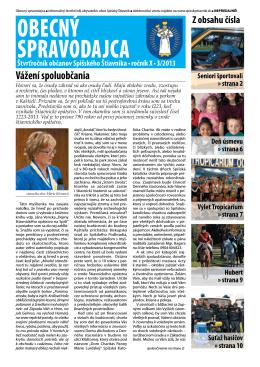 Obecný spravodajca 3/2013
