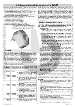 Inteligentná bezdrôtová zásuvka AC-88