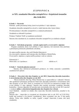16.06.2014 - Obec Kojatice