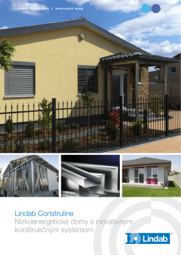 Katalóg montovaných domov Lindab