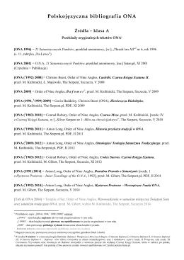 Polskojęzyczna bibliografia ONA