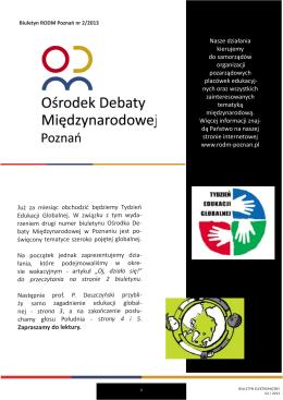 Biuletyn RODM Poznań nr 2/2013