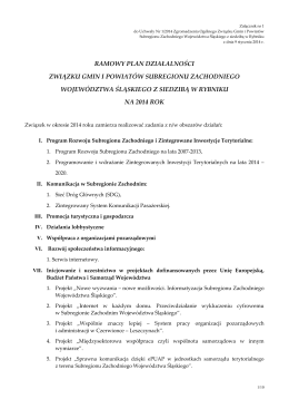 Załącznik nr 1 do Uchwały 1/2014