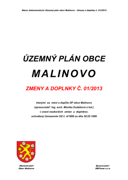 Text ZaD - Malinovo