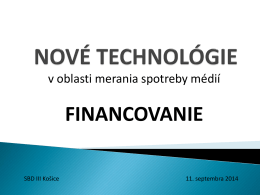 NOVÉ TECHNOLÓGIE