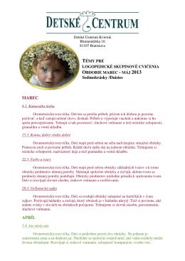 Sedmokrásky /Daisies MAREC APRÍL