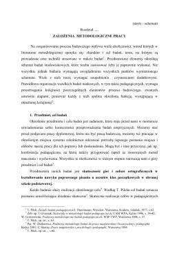 Założenia metodologiczne pracy