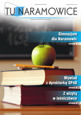 Gimnazjum dla Naramowic Wywiad z dyrektorką