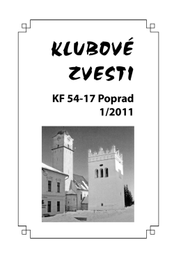 Klubové zvesti 1/2011 - Klub filatelistov 54