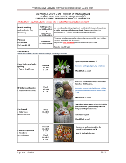 Program aktivít na marec 2015