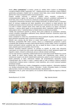 Párty s participáciou - článok Lučenec s foto