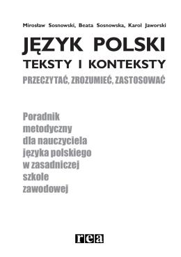 Język polski. Poradnik metodyczny dla nauczyciela języka polskiego