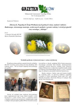 Gazetka MU3W nr 15 (PDF 4550 KB) (kwiecień 2011 r)