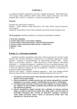 Zapisnica zo zasadnutia OZ 17.02.2011