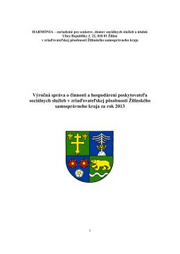 Výročná správa za rok 2013 - HARMÓNIA