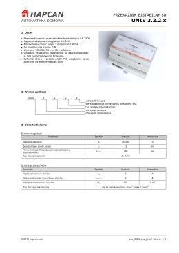 Przekaźnik bistabilny 5A UNIV 3.2.2.x