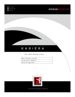 K A R I É R A - Hogan Personality Inventory