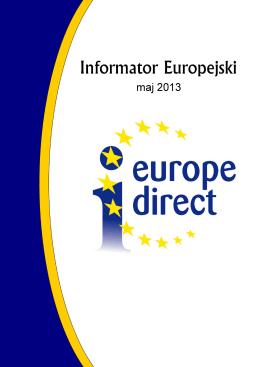 Informator Europejski – Maj 2013 - Europe Direct Bielsko