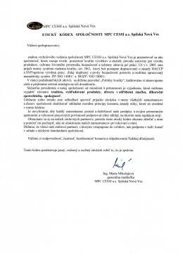 Etický kódex MPC CESSI