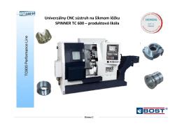 Univerzálny CNC sústruh na šikmom lôžku SPINNER TC 600