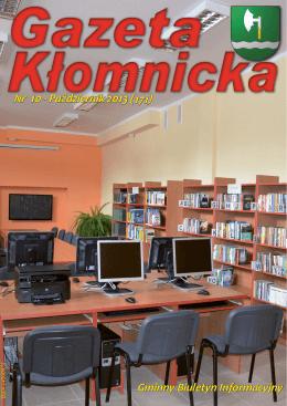Gminny Biuletyn Informacyjny Nr 10 - Październik 2013