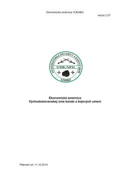 Ekonomická smernica VUKABU ver.2.07