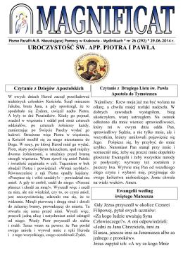 magnificat nr 26 29.06.2014