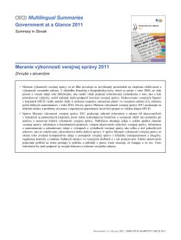 Meranie výkonnosti verejnej správy 2011