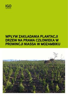 WpłyW zakładania plantacji drzeW na praWa człoWieka W proWincji