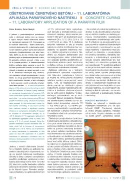 11. laboratórna aplikácia parafínového nástreku