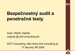 Technický bezpečnostný audit