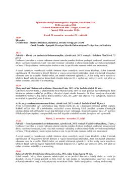 Részletes program - Spolok segedínskych Slovákov