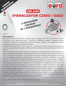 cgd-22a2 sygnalizator czadu i gazu - Eura-Tech