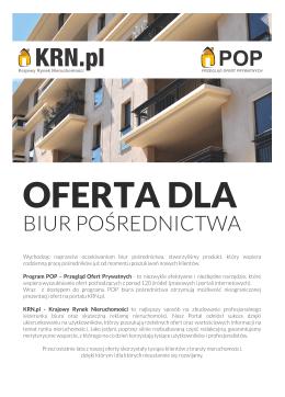 BIUR POŚREDNICTWA - Krajowy Rynek Nieruchomości