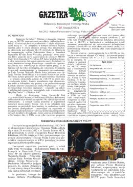 Gazetka MU3W nr 25 (PDF 20031 KB) (listopad 2012 r)