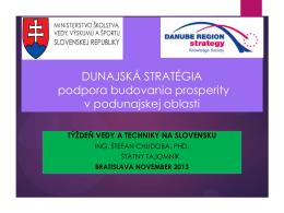 Názov prednášky: Dunajská stratégia