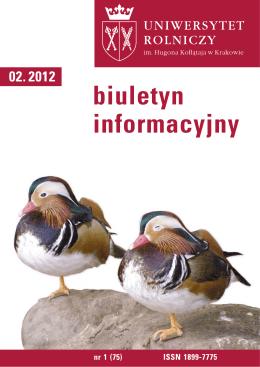 Biuletyn Informacyjny UR w Krakowie nr 1 (75)