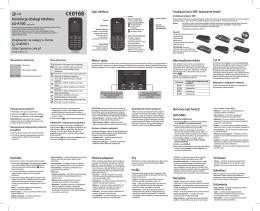 Instrukcja obsługi telefonu